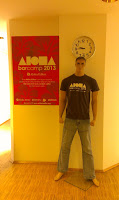 Aloha offices, poster and life-size doll-man wearing Aloha shirt