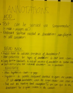 Notes on adding annotations and hearing the annotations